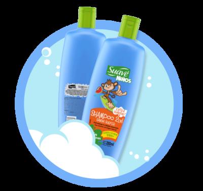 SANDIA SURFER 2 en 1 - Shampoo y acondicionador para niños que no producen lágrimas